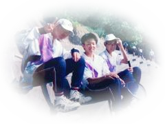 中学校ソフトテニス部の写真